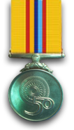 50th Independence Anniversary Commemoration Medal